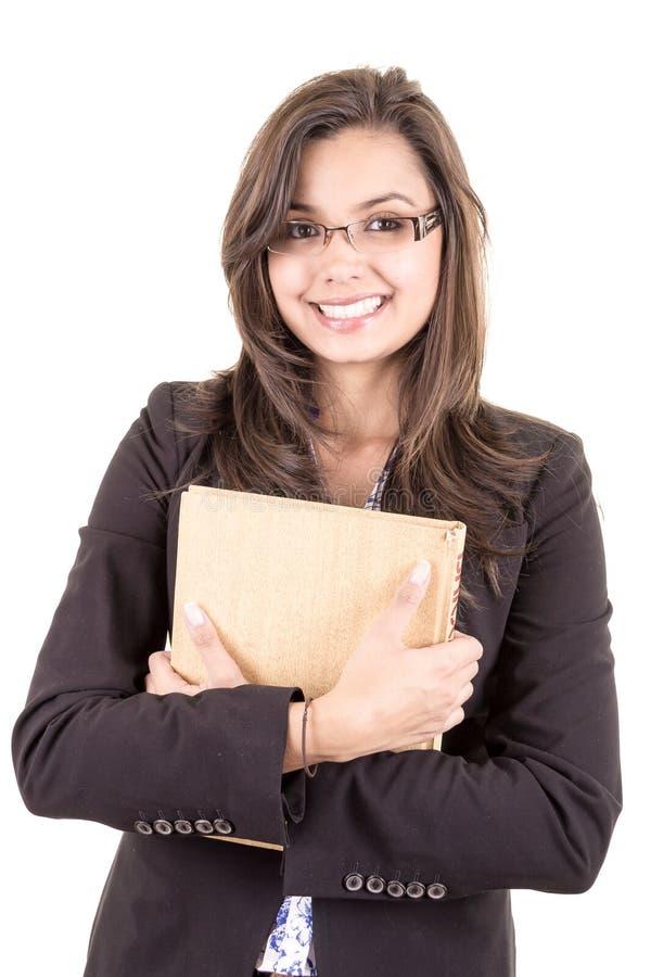 Αρκετά χαμογελώντας ισπανικός δάσκαλος στοκ εικόνες