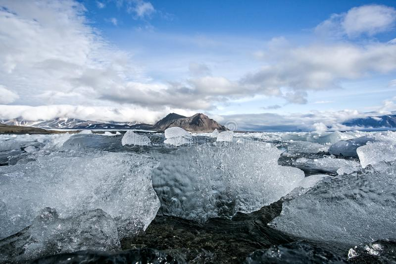 Αρκτικός πάγος, νότος Spitsbergen στοκ εικόνα