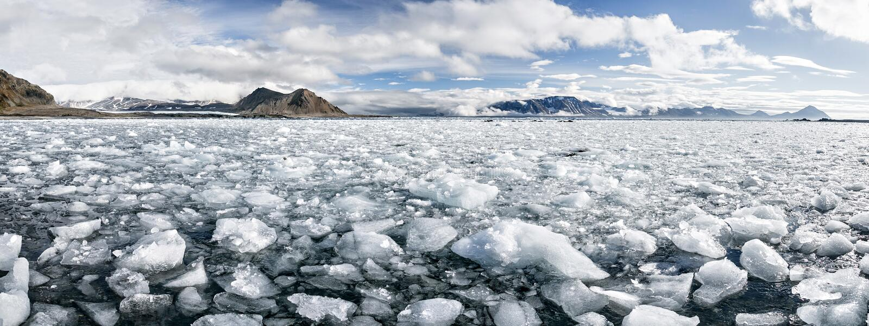 Αρκτικός πάγος, νότος Spitsbergen στοκ φωτογραφία