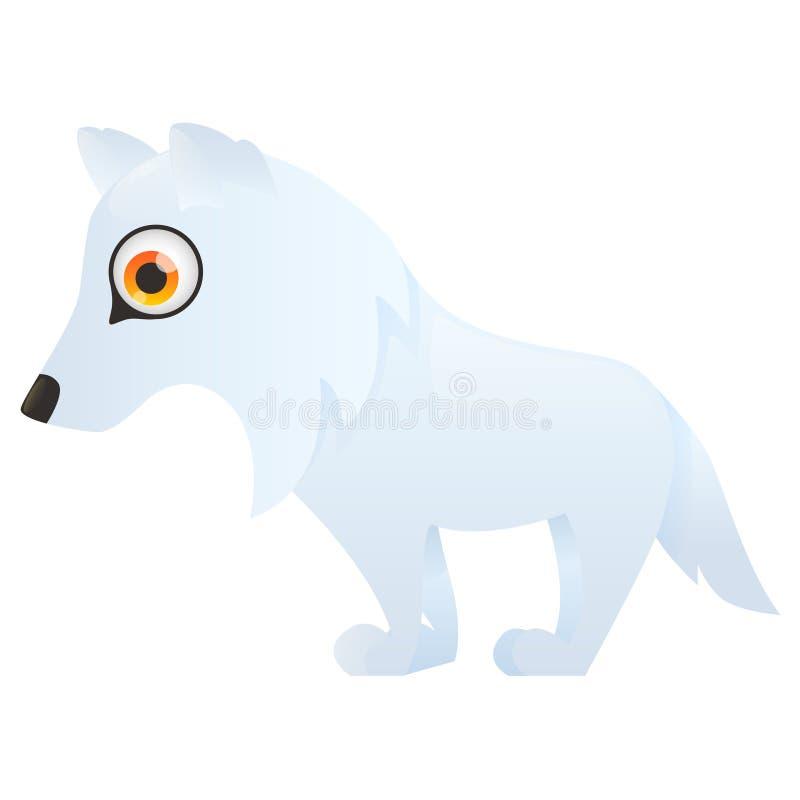 Αρκτικός πολικός λύκος διανυσματική απεικόνιση