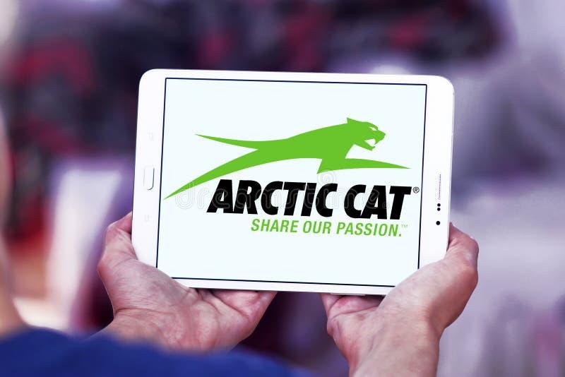 Αρκτικό λογότυπο επιχείρησης γατών αυτοκίνητο στοκ εικόνα