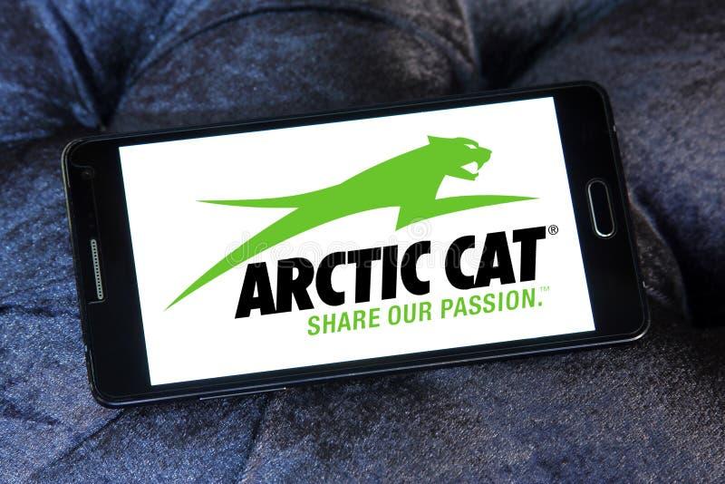 Αρκτικό λογότυπο επιχείρησης γατών αυτοκίνητο στοκ εικόνες με δικαίωμα ελεύθερης χρήσης
