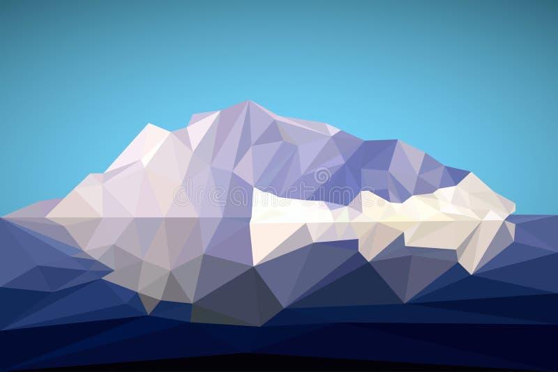 Αρκτικό παγόβουνο στο polygonal ύφος επίσης corel σύρετε το διάνυσμα απεικόνισης απεικόνιση αποθεμάτων