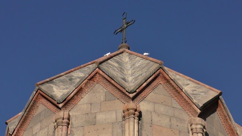 Αρμενία, επαρχία Aragatsotn Χρώματα φθινοπώρου του μοναστηριού Ohanavank στοκ φωτογραφίες