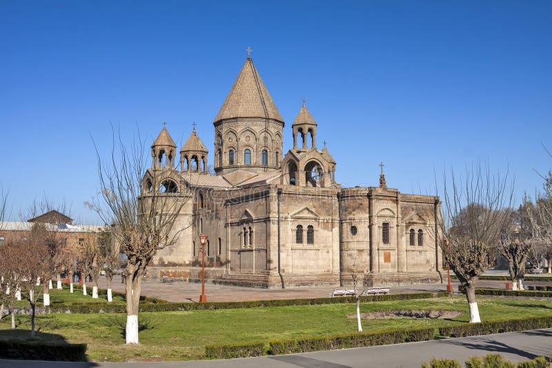 Αρμενία - πόλη Vagharshapat Etchmiadzin - Etchmiadzin Cathe στοκ φωτογραφίες