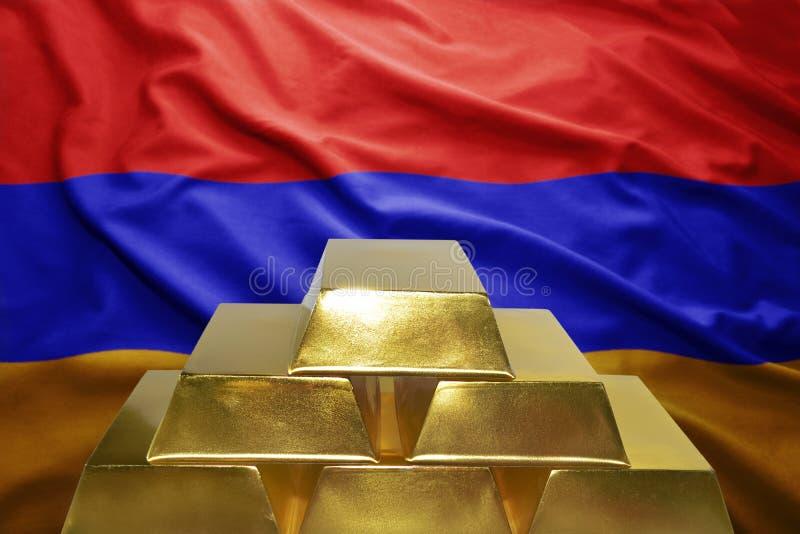 Αρμενικές χρυσές επιφυλάξεις στοκ εικόνες