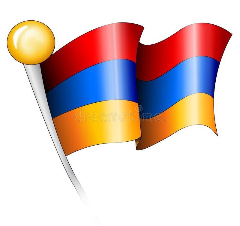 αρμενική απεικόνιση σημαιών διανυσματική απεικόνιση