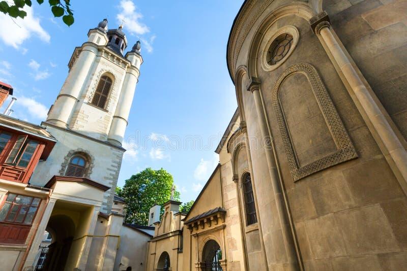 Αρμενική εκκλησία στην πόλη Lviv (Ουκρανία) στοκ φωτογραφία με δικαίωμα ελεύθερης χρήσης