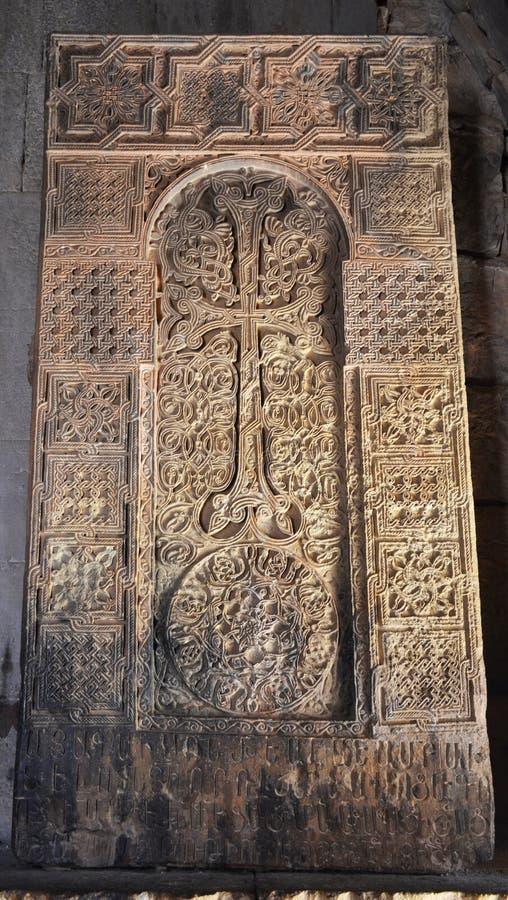 Αρμενική μεσαιωνική διαγώνια πέτρα στοκ εικόνες