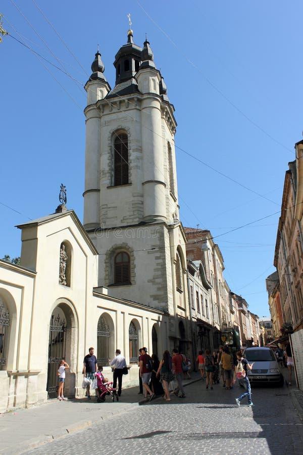 Αρμενικός καθεδρικός ναός της υπόθεσης της ευλογημένης Virgin Mary Πόλη Lviv Ουκρανία στοκ φωτογραφίες με δικαίωμα ελεύθερης χρήσης