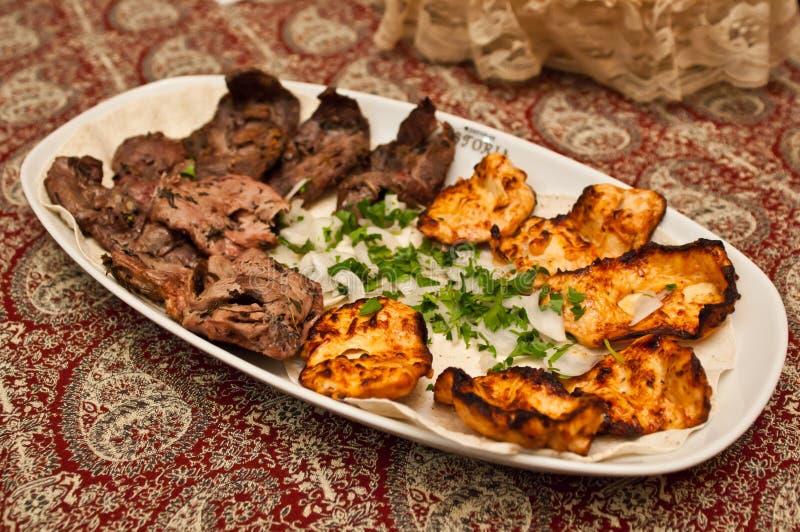 αρνί κοτόπουλου kebab στοκ εικόνα