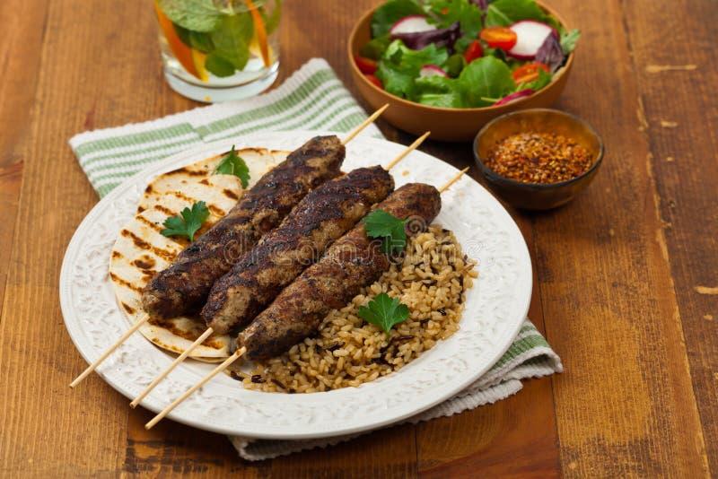 Αρνί kebabs στοκ φωτογραφίες με δικαίωμα ελεύθερης χρήσης