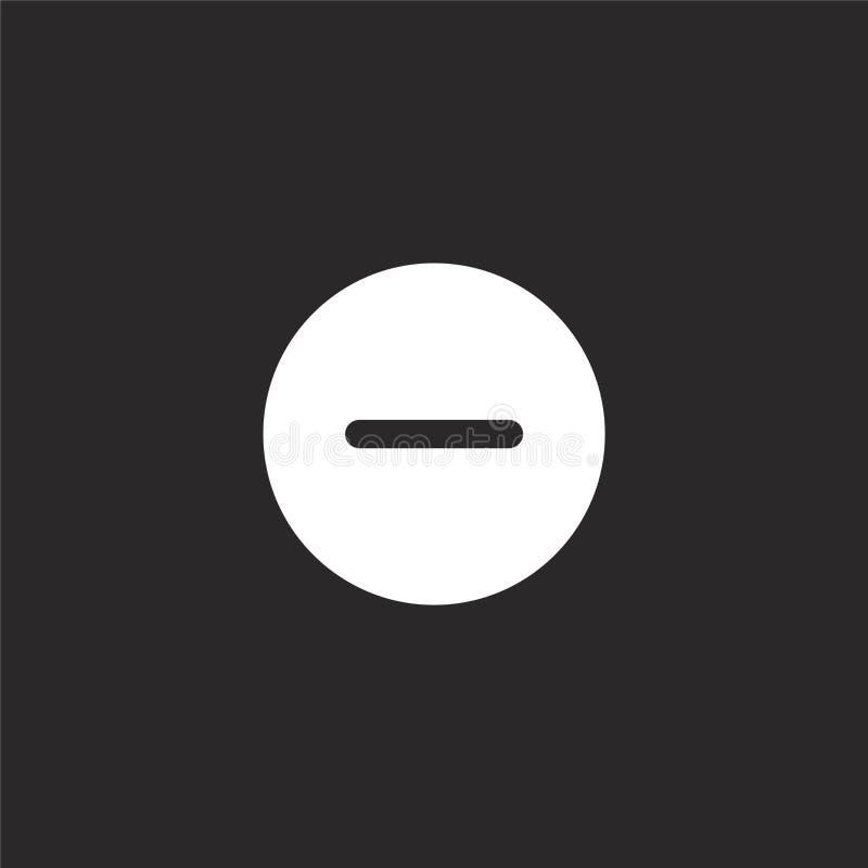 αρνητικό εικονίδιο Γεμισμένος μείον το εικονίδιο για το σχέδιο ιστοχώρου και κινητός, app ανάπτυξη αρνητικό εικονίδιο τη γεμισμέν διανυσματική απεικόνιση