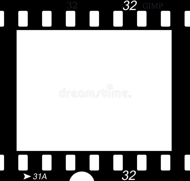 αρνητικό τμήμα ταινιών διανυσματική απεικόνιση