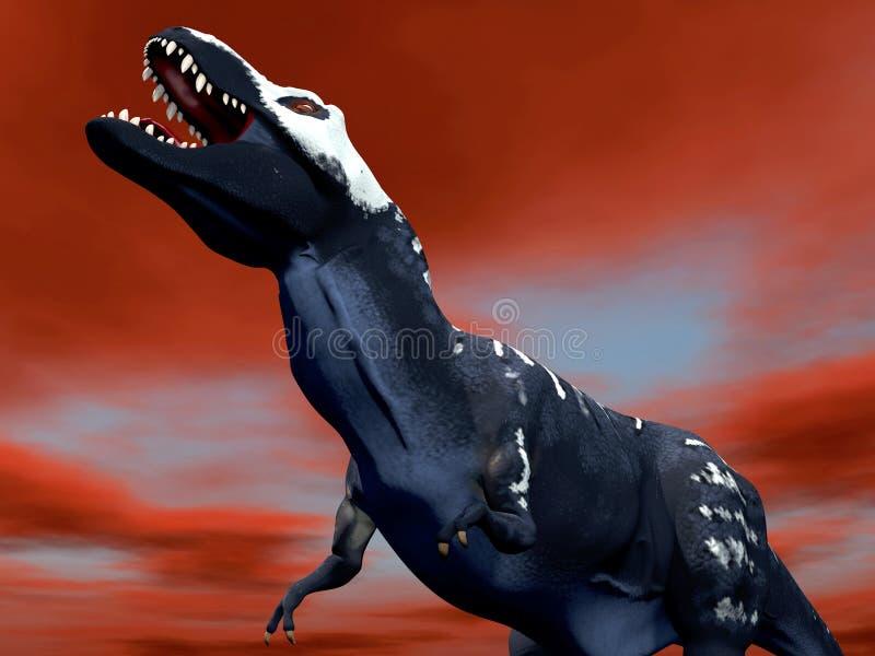 Αρπακτικός δεινόσαυρος στοκ εικόνες