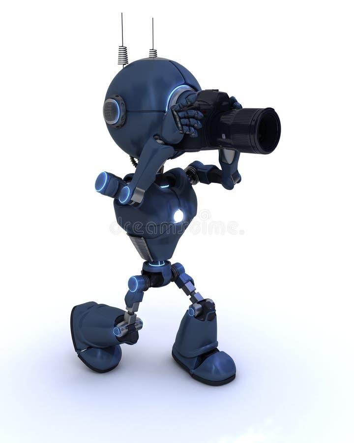Αρρενωπός με τη κάμερα SLR διανυσματική απεικόνιση