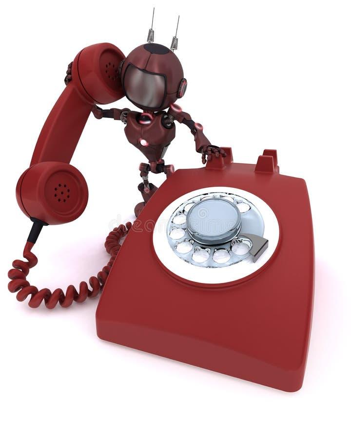 Αρρενωπός με το τηλέφωνο απεικόνιση αποθεμάτων