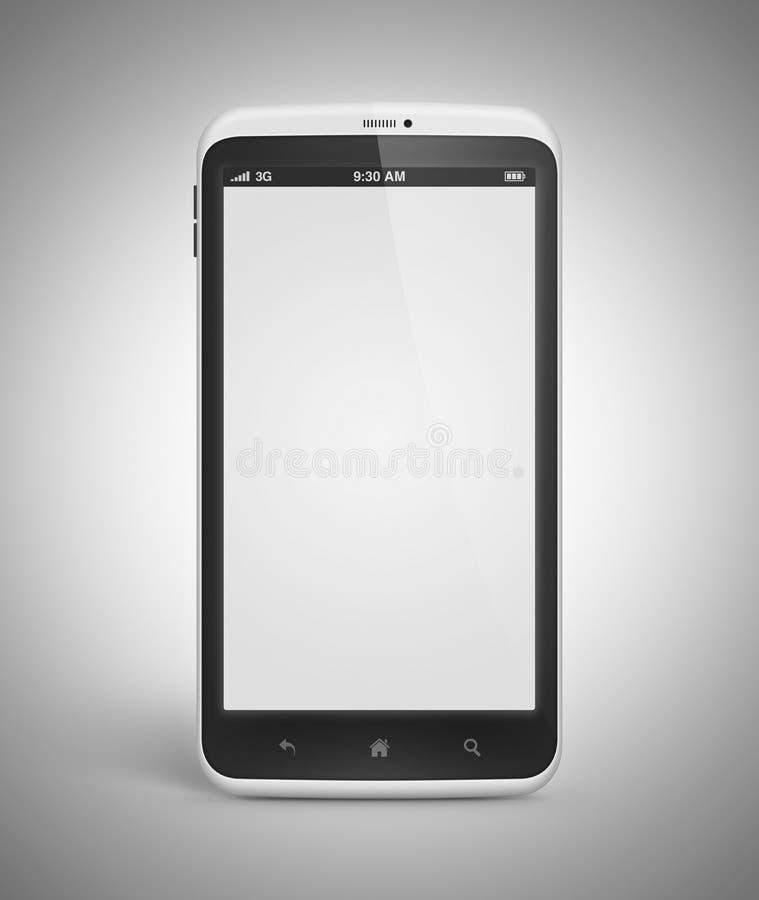 Αρρενωπό κινητό τηλέφωνο με την κενή οθόνη ελεύθερη απεικόνιση δικαιώματος