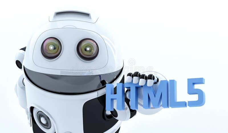 Αρρενωπό σημάδι εκμετάλλευσης html5 ρομπότ στοκ εικόνες