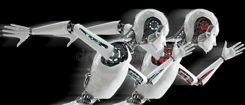 Αρρενωπό τρέξιμο ρομπότ απεικόνιση αποθεμάτων
