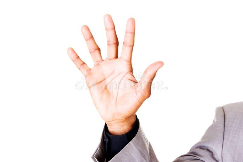Αρσενικά ανοικτά χέρια, παλάμες. Κινηματογράφηση σε πρώτο πλάνο. στοκ φωτογραφία με δικαίωμα ελεύθερης χρήσης