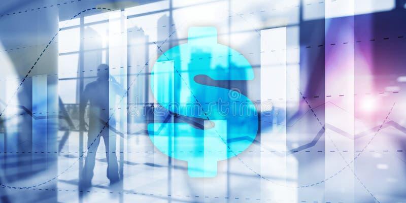 Αρσενικά ελάφια και σημάδι δολαρίων, ψηφιακή τεχνολογία Οικονομικό επιχειρησιακό υπόβαθρο στοκ φωτογραφία με δικαίωμα ελεύθερης χρήσης