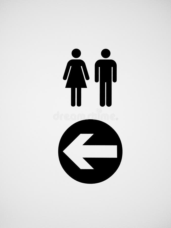 Αρσενικά και θηλυκά εικονίδιο τουαλετών/σημάδι απεικόνιση αποθεμάτων