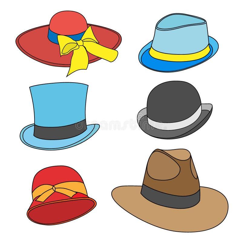 Αρσενικά και θηλυκά καπέλα ελεύθερη απεικόνιση δικαιώματος