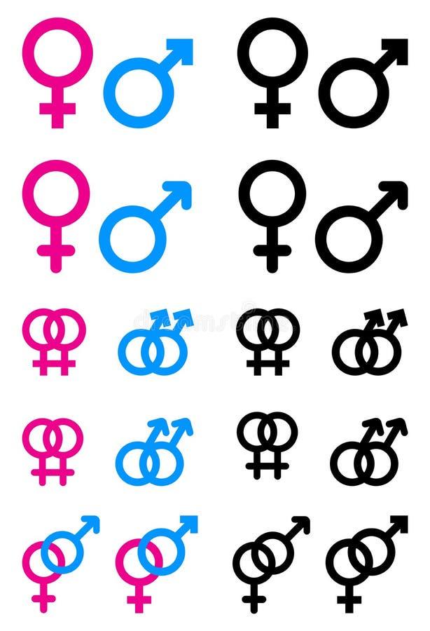 Αρσενικά και θηλυκά σύμβολα απεικόνιση αποθεμάτων