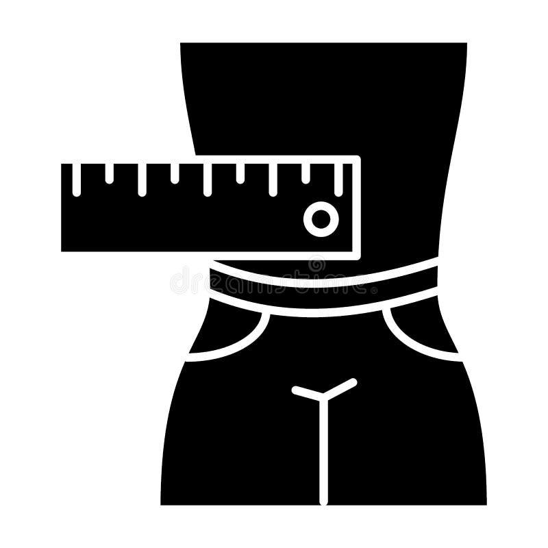 Αρσενικά ABS που μετρούν το στερεό εικονίδιο Άτομο στη διανυσματική απεικόνιση σορτς που απομονώνεται στο λευκό Αρσενικό ύφος σωμ ελεύθερη απεικόνιση δικαιώματος