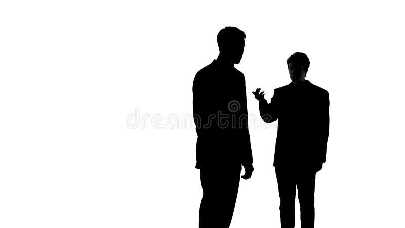 Αρσενικά extorting χρήματα μαφίας από τον επιχειρηματία, οικονομικός εκβιασμός, πιστωτικό πρόβλημα διανυσματική απεικόνιση