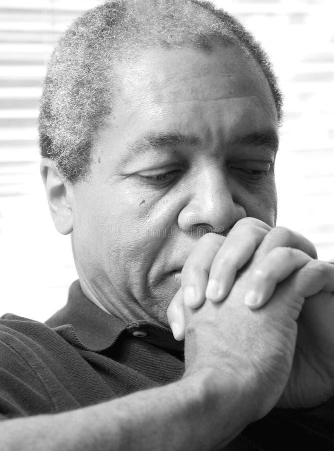Αρσενικές εκφράσεις αφροαμερικάνων στοκ φωτογραφία