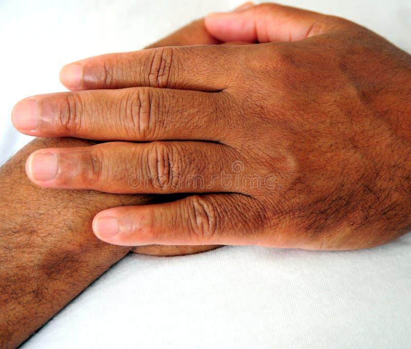Αρσενικές εκφράσεις χεριών αφροαμερικάνων στοκ εικόνες