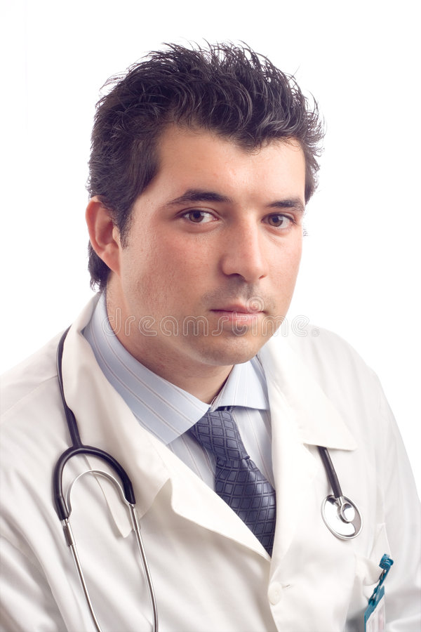 αρσενικές νεολαίες πορτρέτου γιατρών στοκ εικόνα
