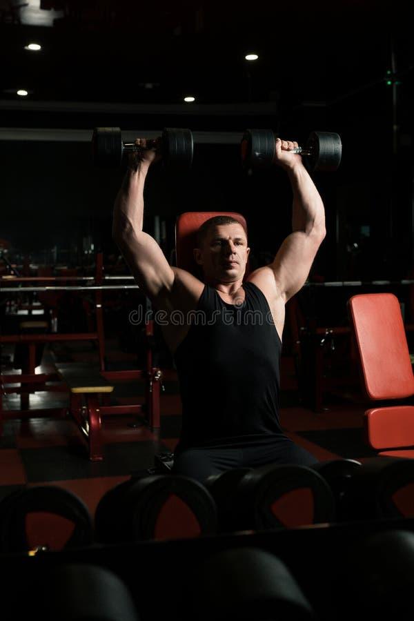 Αρσενική άποψη αθλητών στην αθλητική γυμναστική στοκ εικόνες με δικαίωμα ελεύθερης χρήσης
