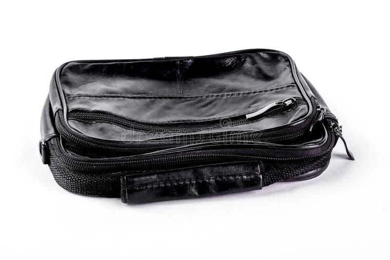 Αρσενική εκλεκτής ποιότητας μαύρη τσάντα δέρματος στοκ εικόνα με δικαίωμα ελεύθερης χρήσης