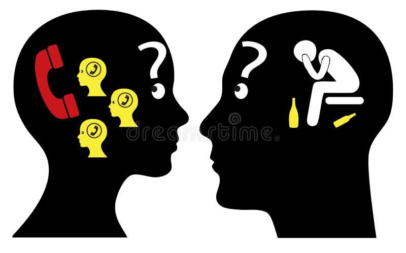 Αρσενική και θηλυκή λύση διανυσματική απεικόνιση