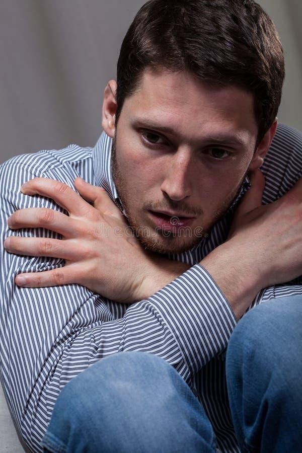 Αρσενική κατάθλιψη στοκ εικόνα με δικαίωμα ελεύθερης χρήσης