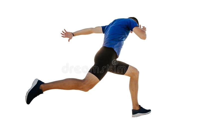 Αρσενική τρέχοντας γραμμή τερματισμού δρομέων στοκ φωτογραφίες