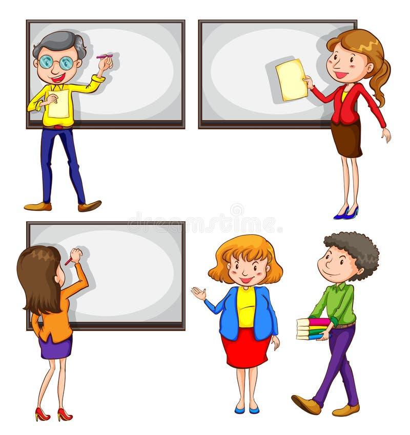 Αρσενικοί και θηλυκοί δάσκαλοι απεικόνιση αποθεμάτων