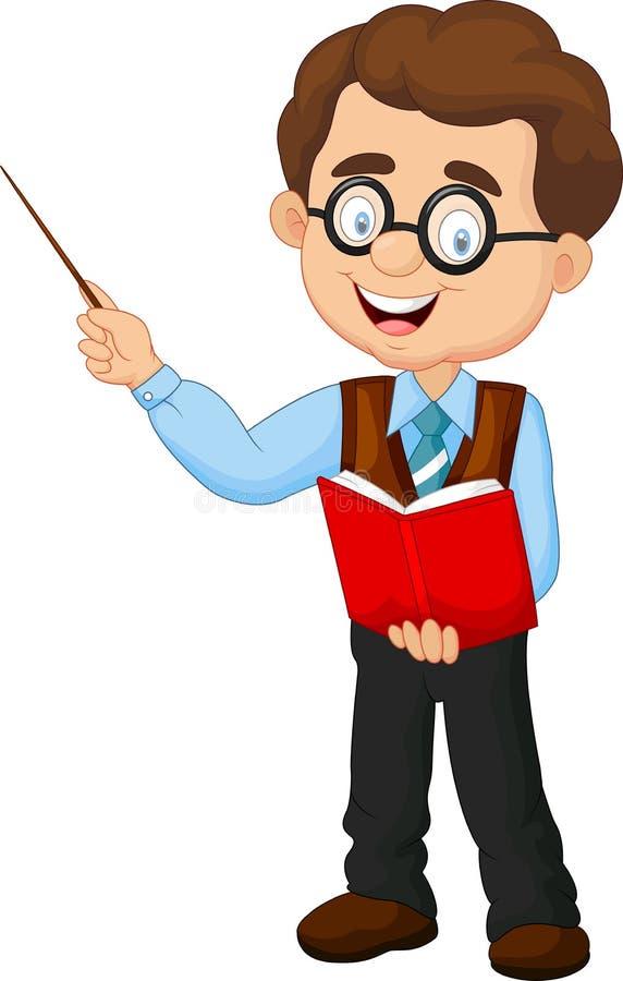 Αρσενικός δάσκαλος κινούμενων σχεδίων διανυσματική απεικόνιση