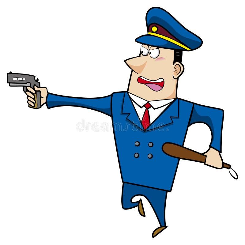 Αρσενικός αστυνομικός κινούμενων σχεδίων διανυσματική απεικόνιση