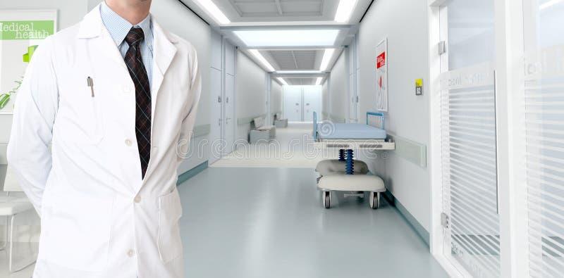 Αρσενικός γιατρός σε ένα σύγχρονο νοσοκομείο στοκ φωτογραφία με δικαίωμα ελεύθερης χρήσης