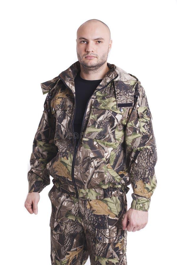 Αρσενικός κυνηγός στοκ εικόνα με δικαίωμα ελεύθερης χρήσης