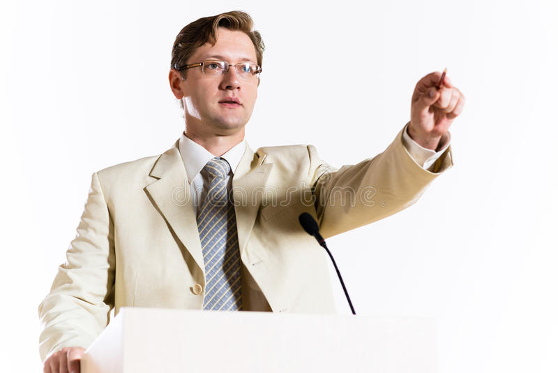 Αρσενικός ομιλητής στοκ εικόνες