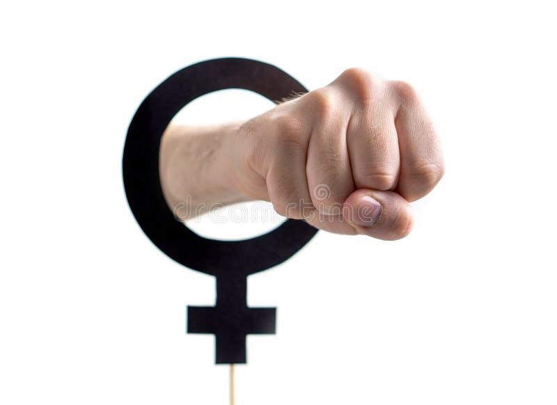 Αρσενικός σοβινισμός, οικογενειακή βία ή σεξουαλική έννοια ισότητας στοκ φωτογραφία με δικαίωμα ελεύθερης χρήσης