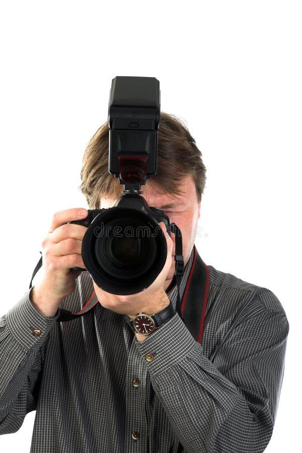 αρσενικός φωτογράφος στοκ φωτογραφίες