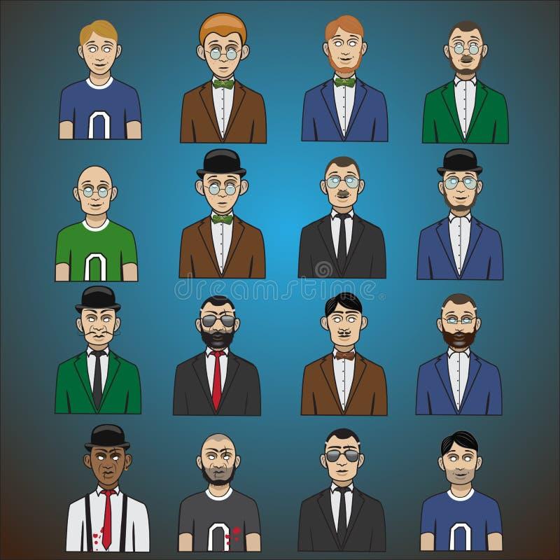 Αρσενικός χαρακτήρας - σύνολο στοκ εικόνα