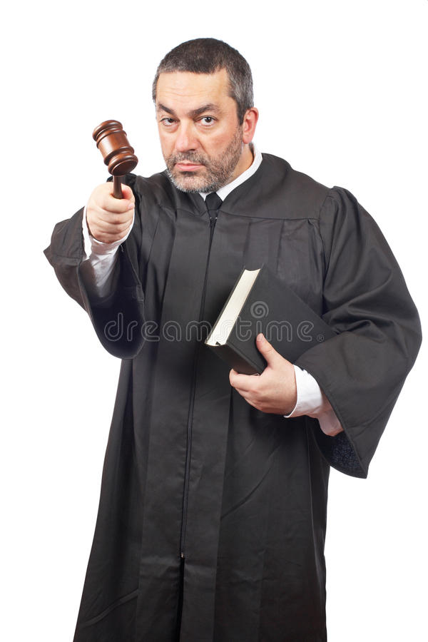 αρσενικό δικαστών σοβαρό στοκ φωτογραφία με δικαίωμα ελεύθερης χρήσης