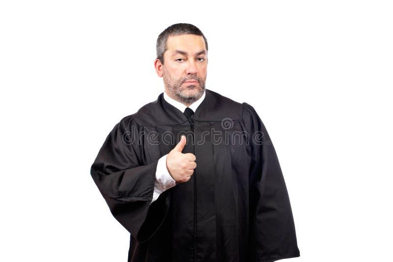 αρσενικό δικαστών σοβαρό στοκ εικόνες